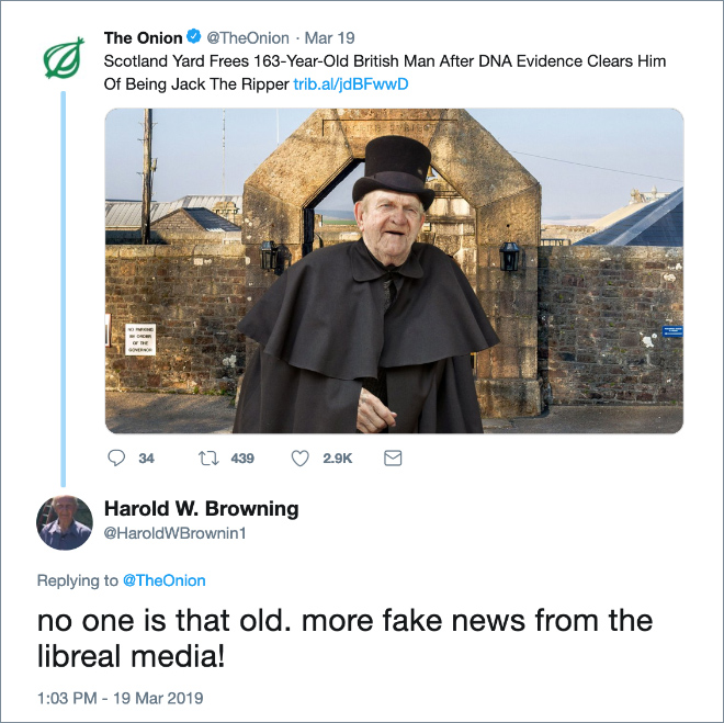 """Some people take """"The Onion"""" seriously..."""