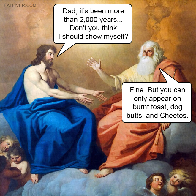 Dad, it's been more than 2,000 years. Don't you think I should show myself?