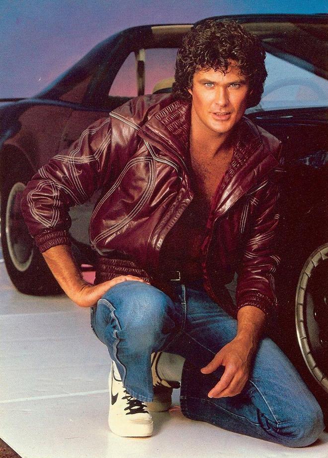 Awkward old publicity photo of David Hasselhoff.