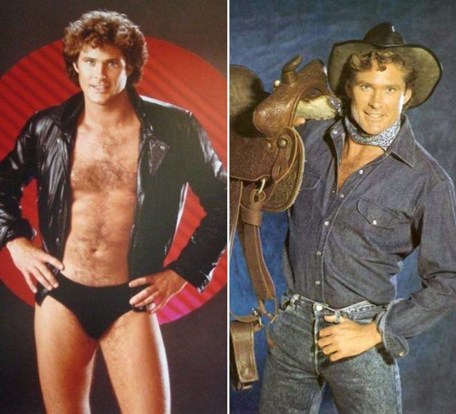 Awkward old publicity photos of David Hasselhoff.