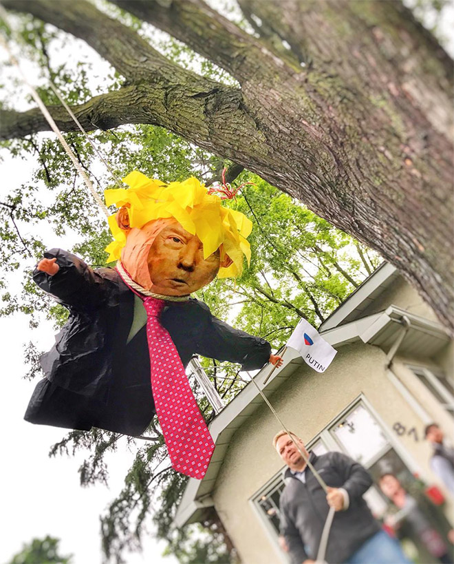 Donald Trump piñatas are getting popular...