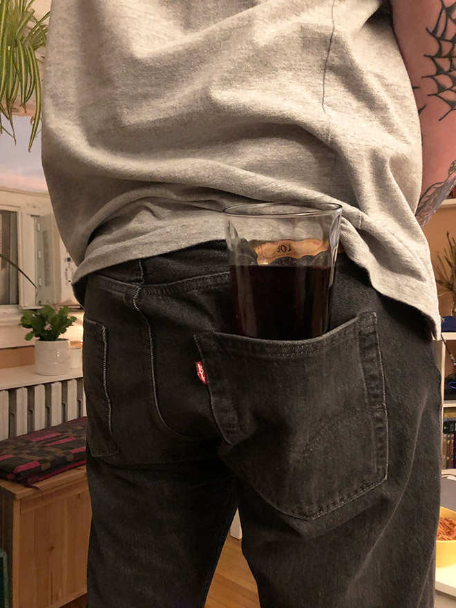 Is this the worst way to hold your drink?
