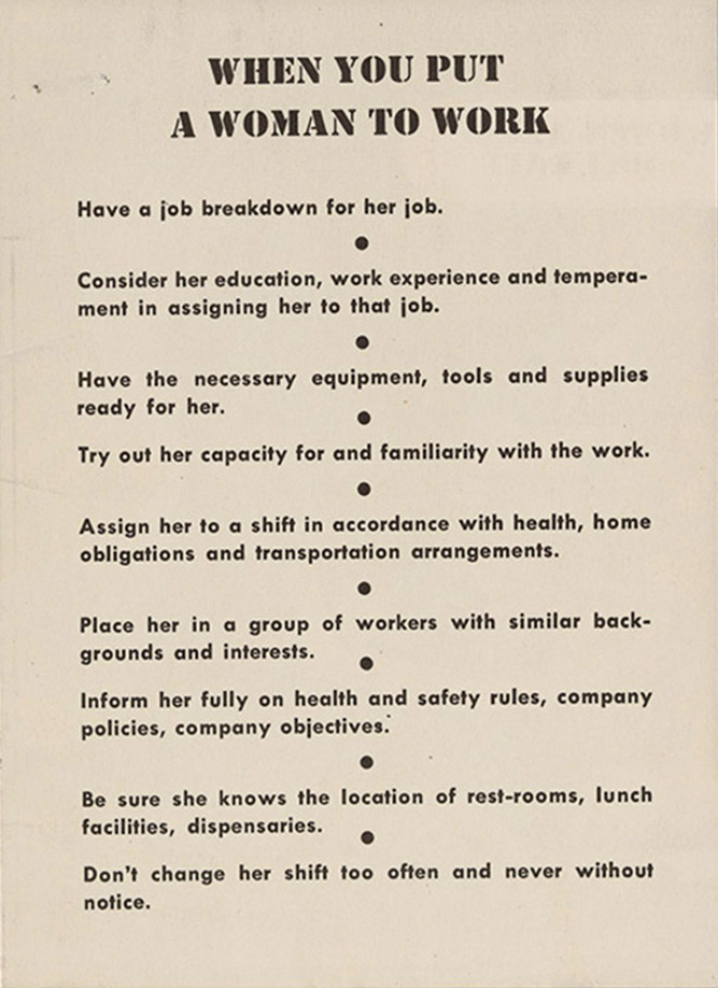 """""""Women Are Teachable"""" Guide From 1940s"""