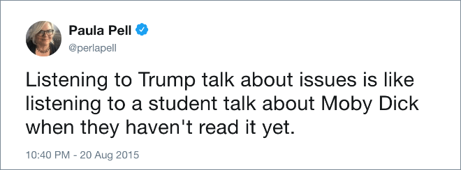 One of the funniest anti-Trump tweets ever.