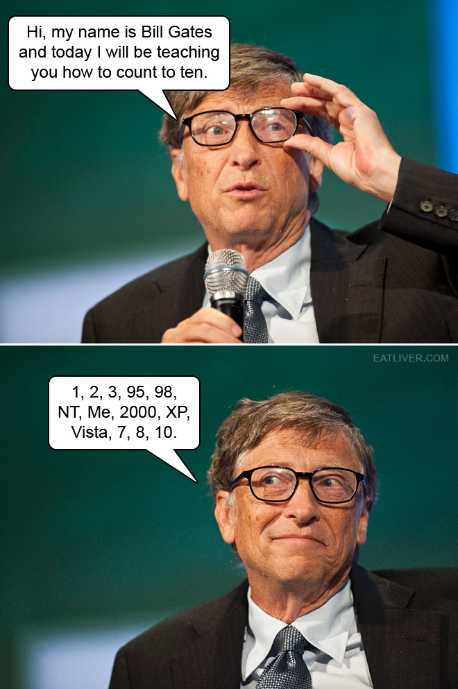 Hi, my name is Bill Gates and today I will be teaching you how to count to ten.