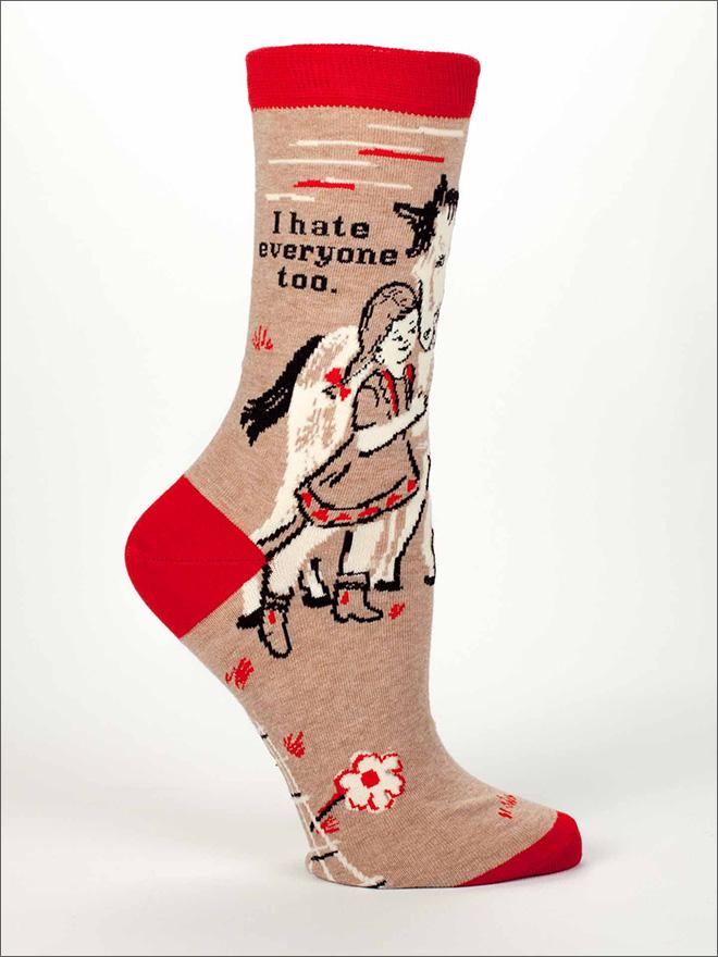 Hilariously rude women's socks.