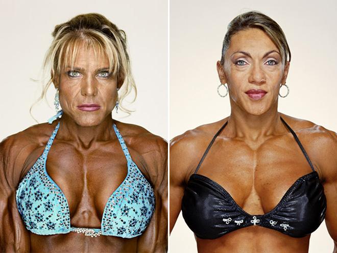 Freaky female bodybuilders.