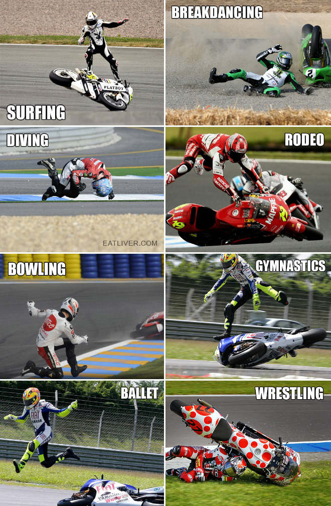 The many types of motorcycle racing.