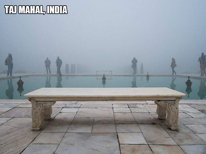 This photo was takes at the famous tourism spot, but facing wrong direction.