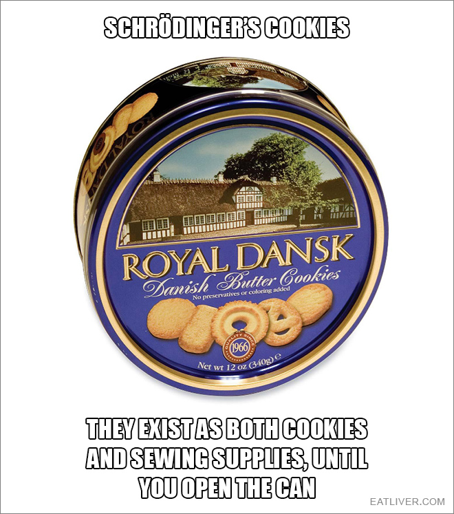 They exist as both cookies and sewing supplies, until you open the can.