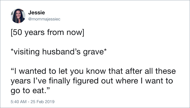Funny tweet about marriage.