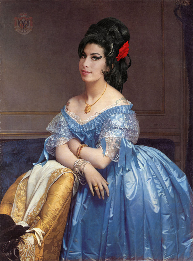 When a classic painting meets with a modern celebrity...