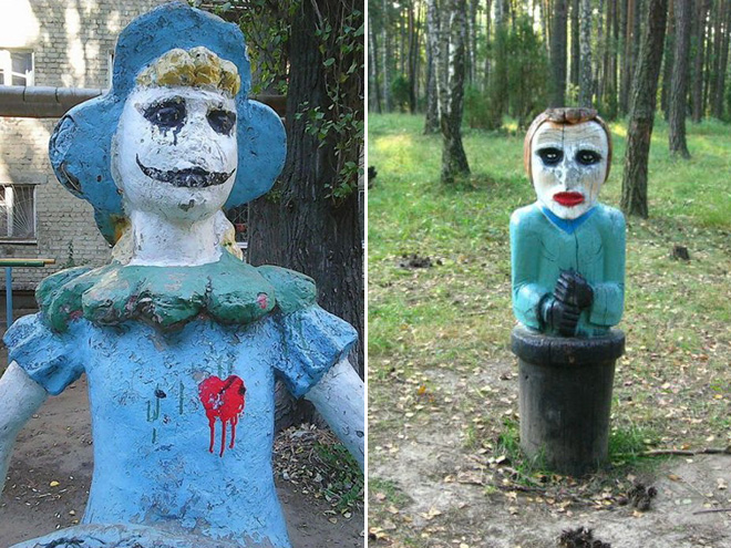 Creepy Russian playground from hell.