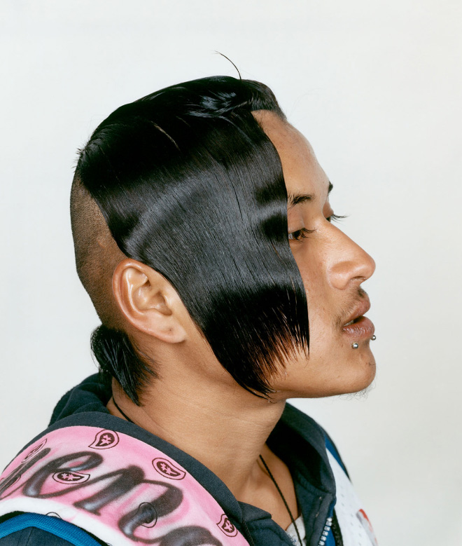 These kind of haircuts are popular among Mexican urban teens.