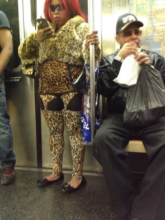 The things you see on subway...