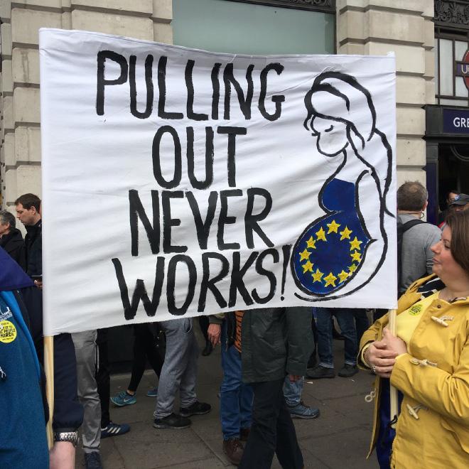 Funny EU supporter sign.