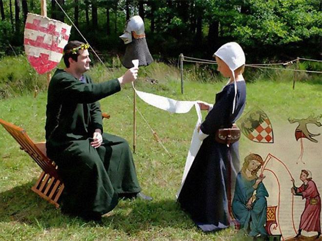 Funny medieval art recreation.