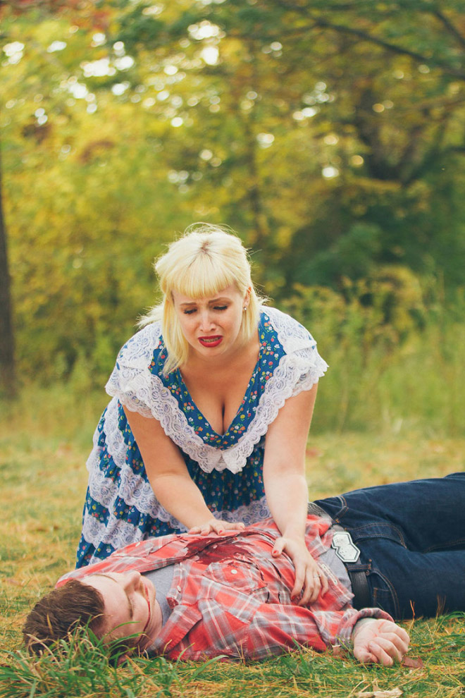 Hilariously horrifying engagement photoshoot.