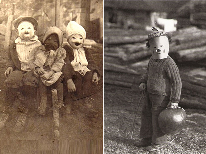 Creepy vintage halloween costumes from hell.