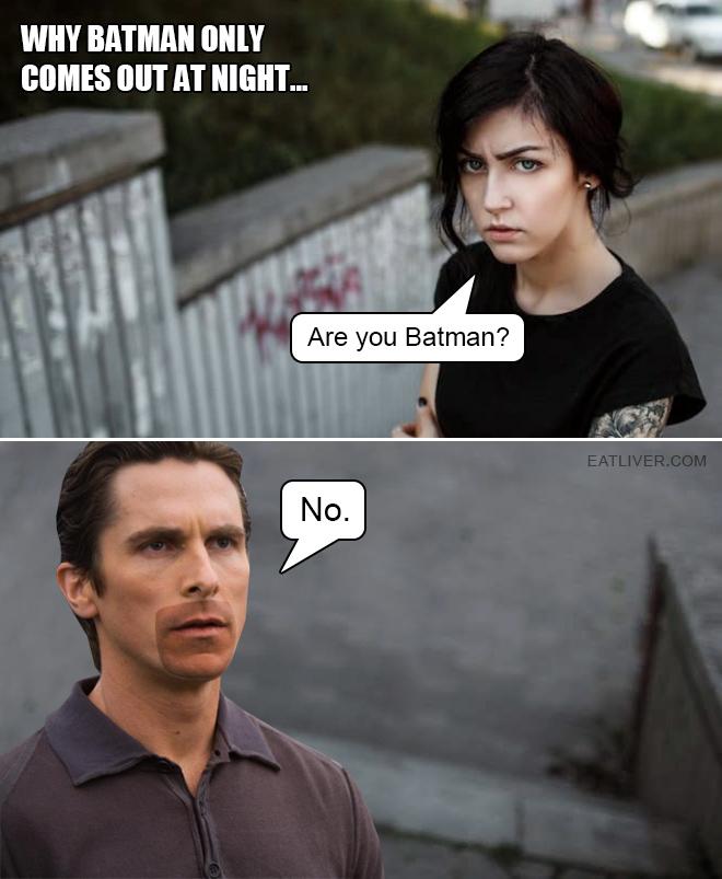 Tan lines: Batman's greatest enemy.