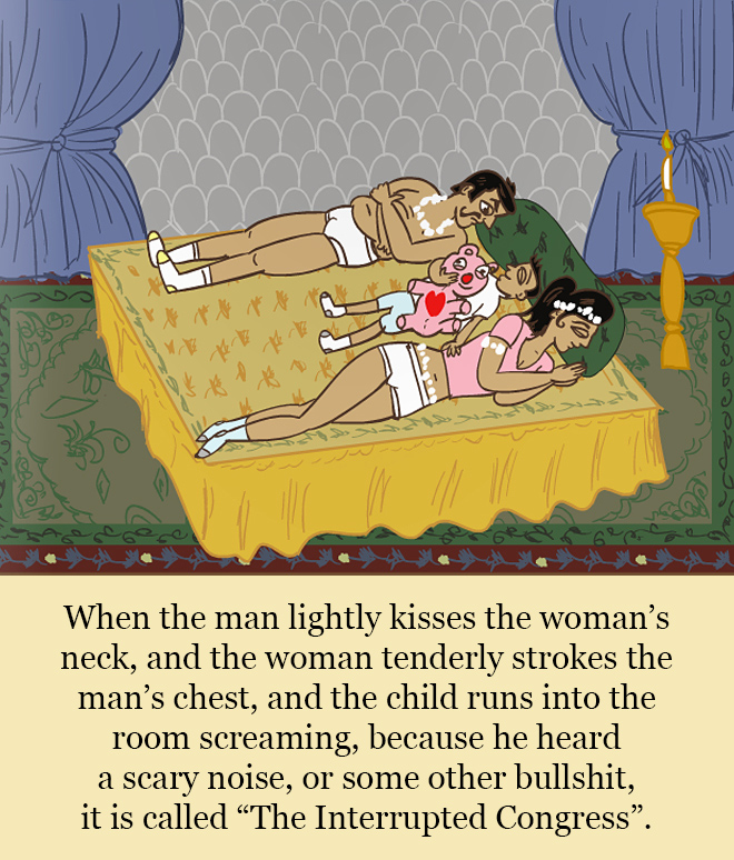 """A page from """"The Married Kama Sutra"""" book."""