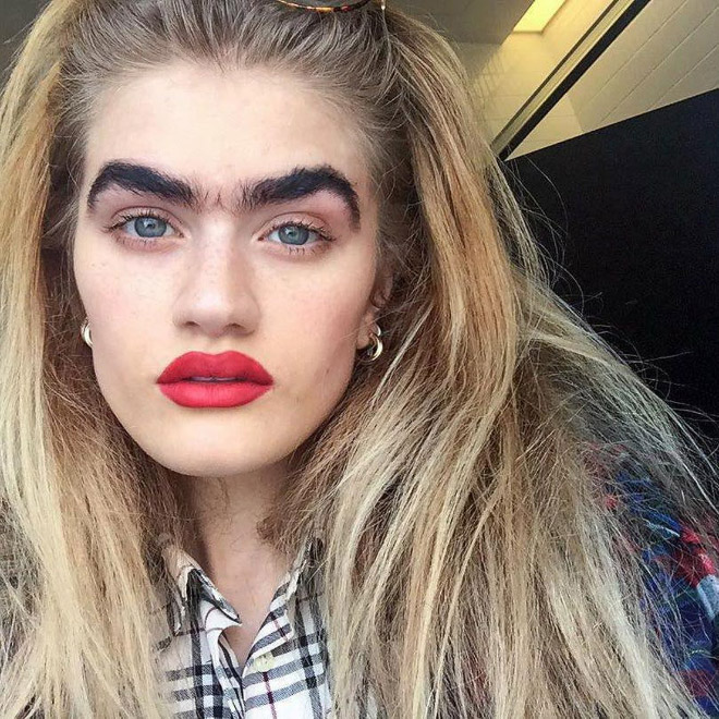 Why have two eyebrows when one is enough?