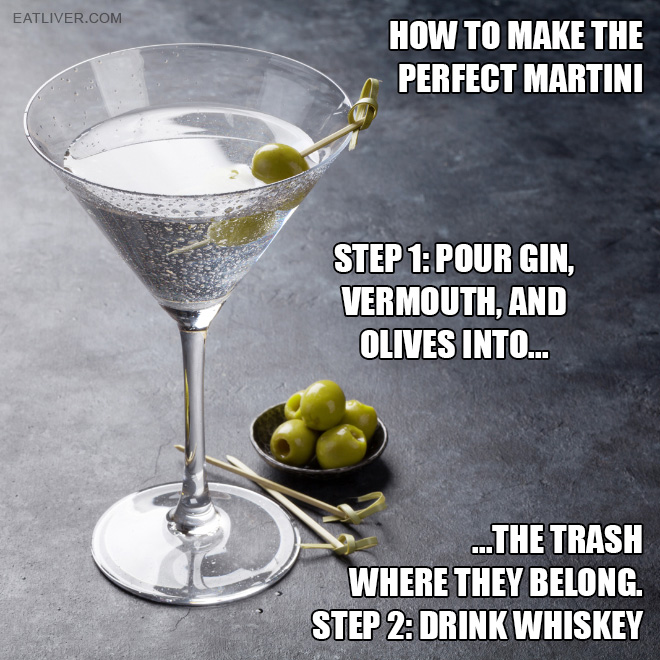 Just two simple steps that will 100% make your martini a success.