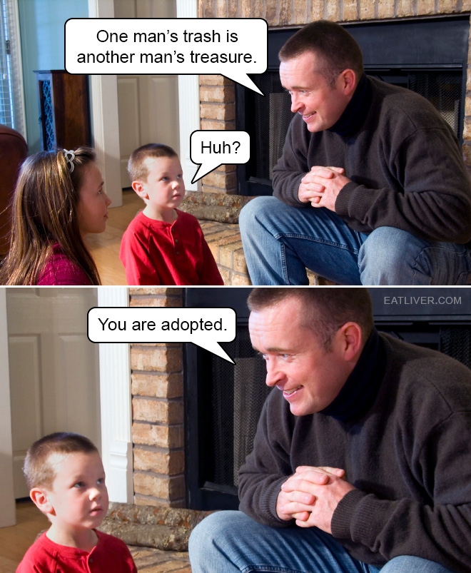 Proper way to break the news to your (?) kid.