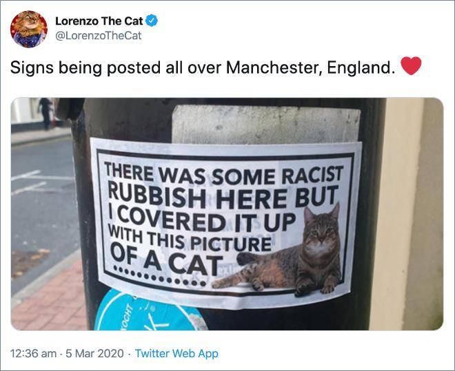 Brilliant anti-racism action.