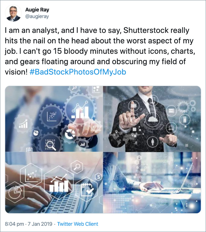 Bad stock photo of a job.