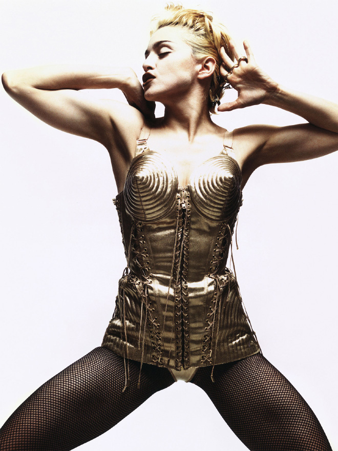 Iconic photo of Madonna.