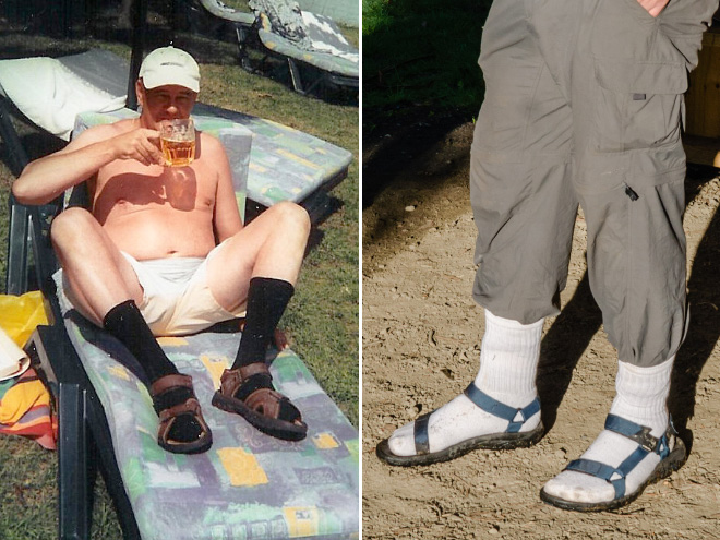 Socks and sandals is a horrible fashion crime.