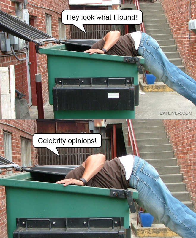 I found some celebrity opinions!