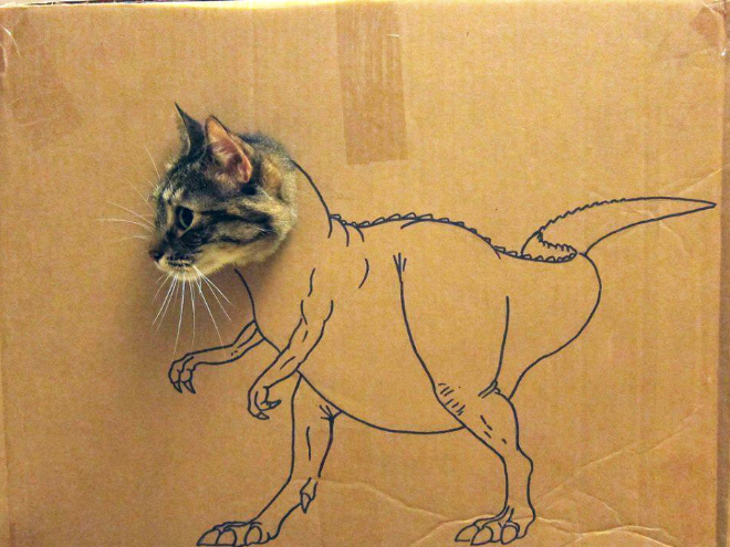 How to turn your ordinary pet into a dinosaur...
