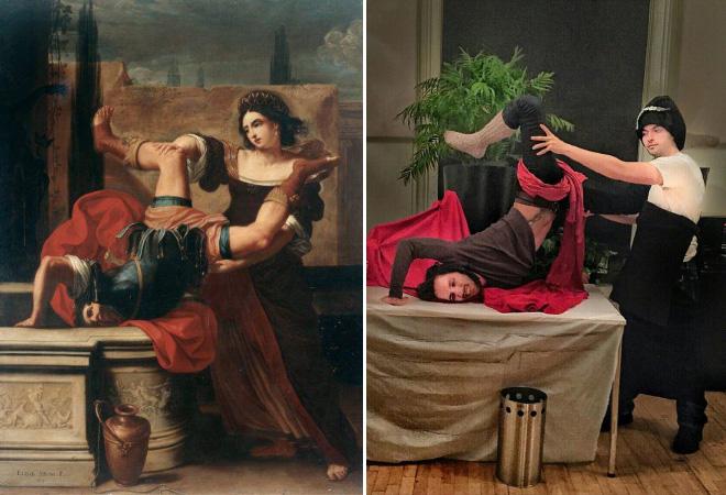 Funny painting parody.