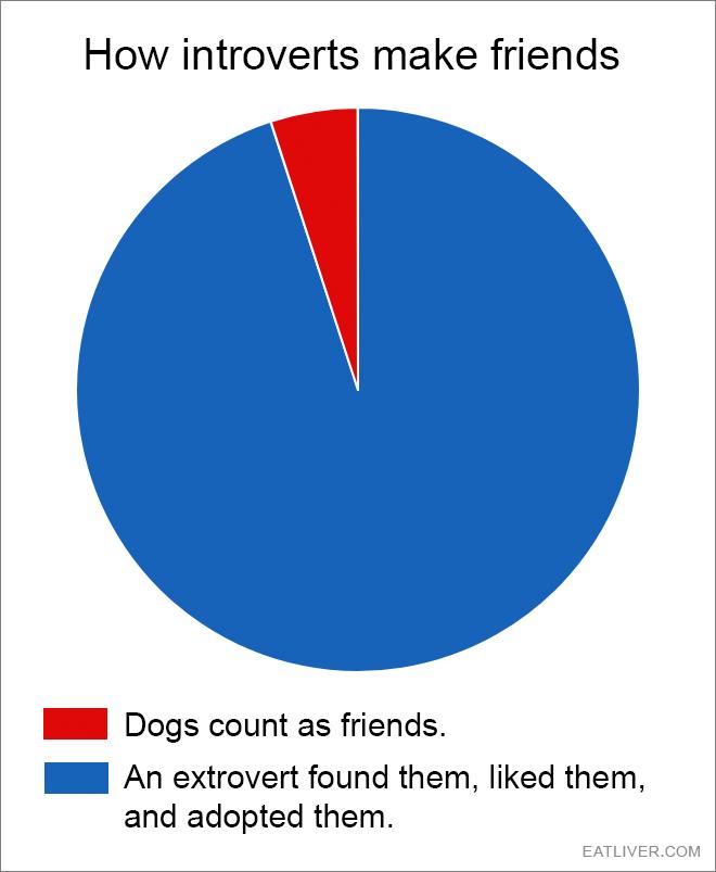 A pretty accurate pie chart representation.