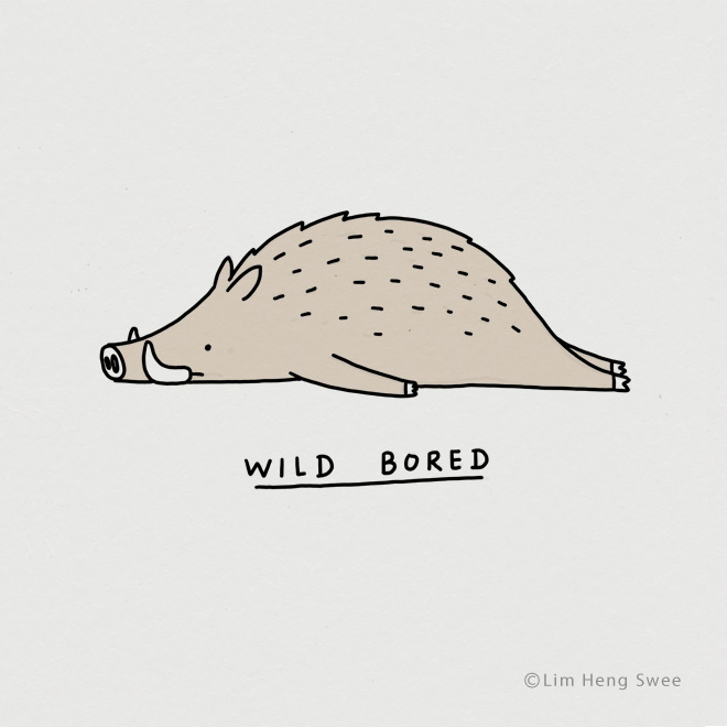 Moody animal pun.