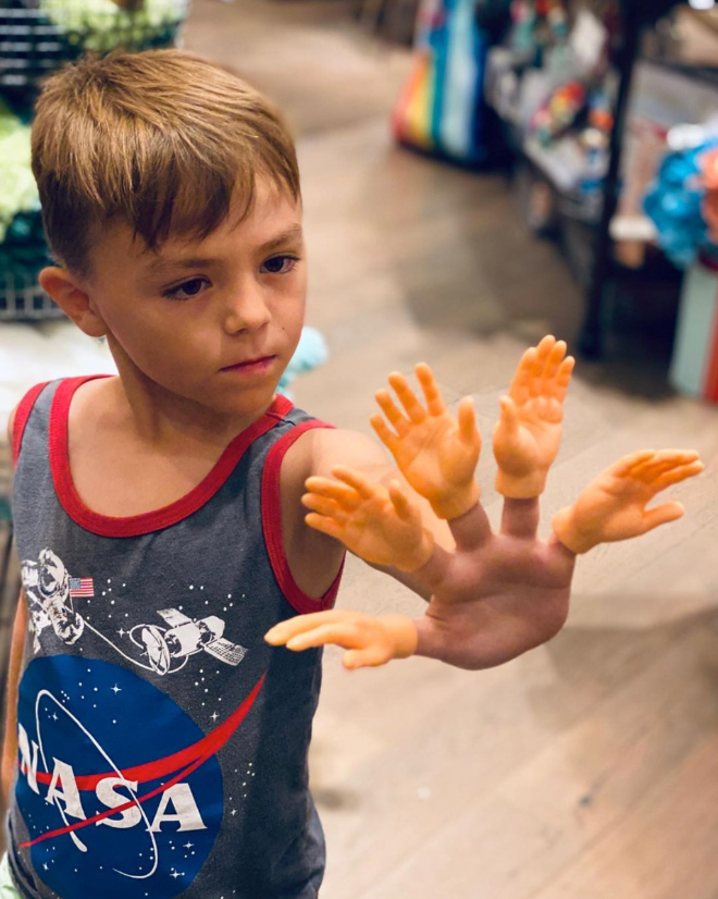 So you can buy hands for your fingers...