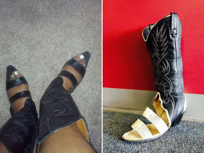 Yes, cowboy boot sandals are real...