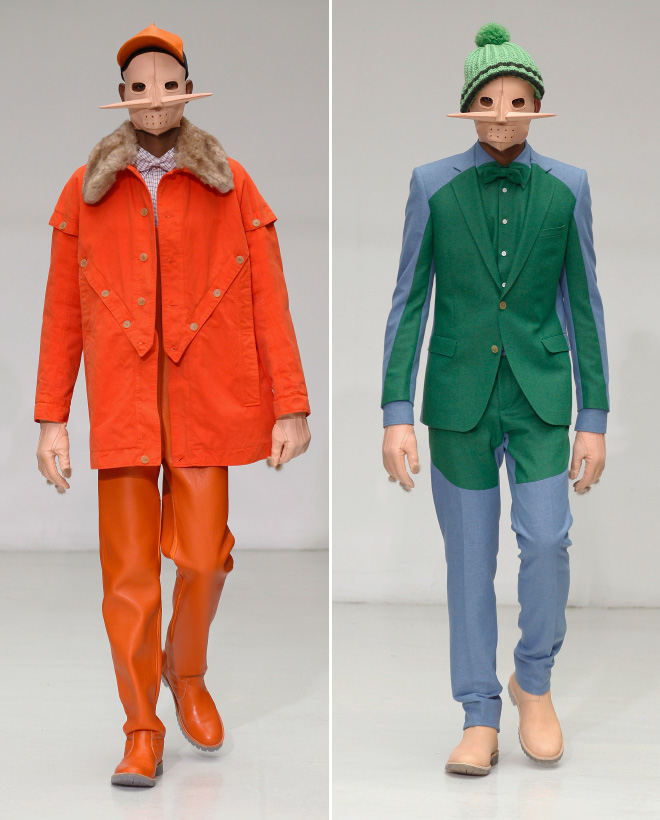 Borderline insane men's fashion by Walter Van Beirendonck.
