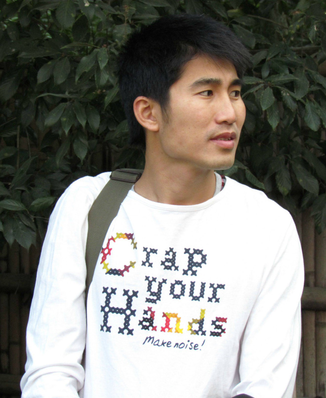 You can see such shirts only in Asia...