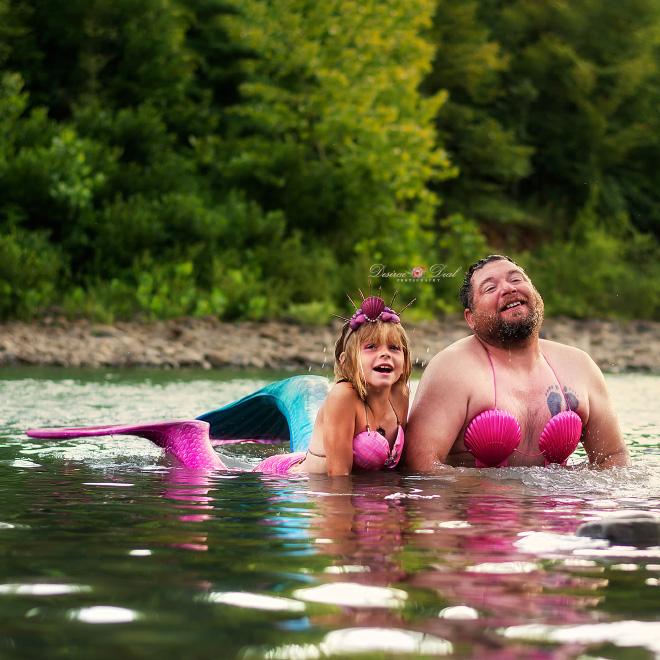 Cute mermaids.