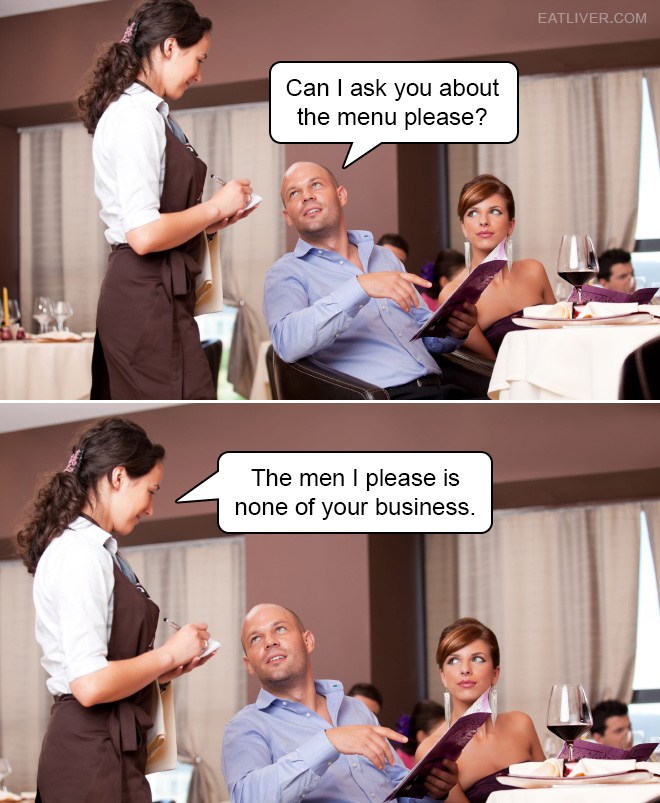 The men she pleases is none of his business!