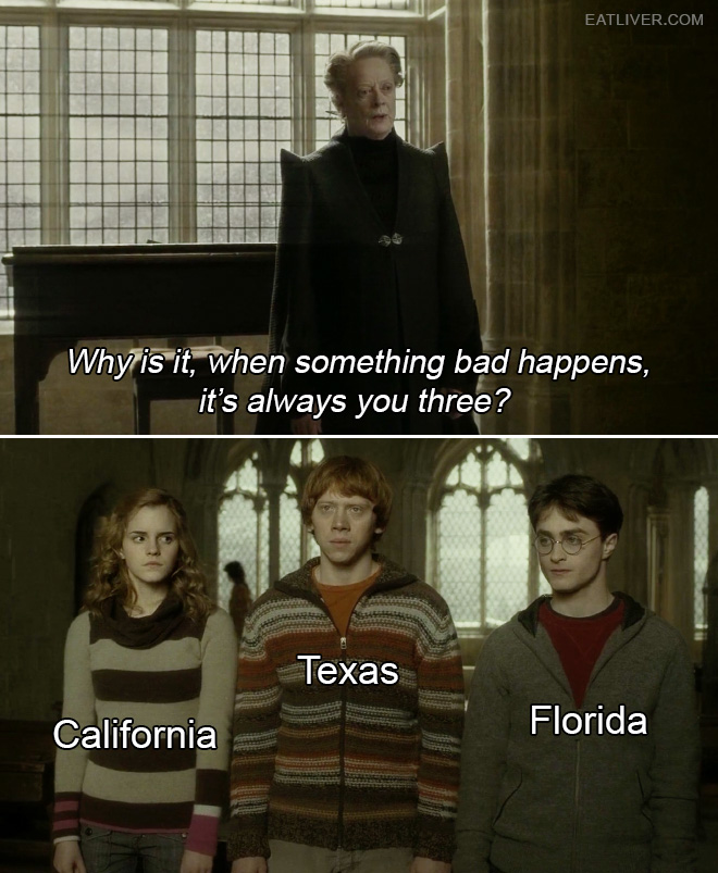 Why is it, when something bad happens, it's always you three?