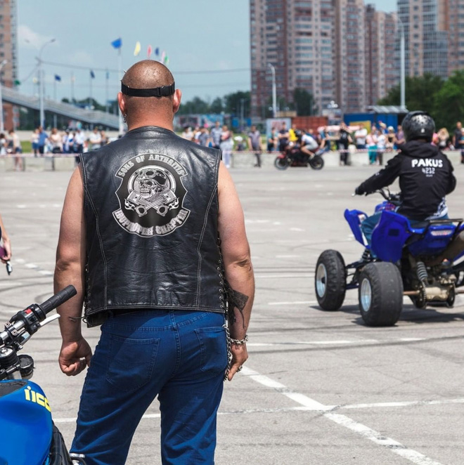 Perfect biker club for dads.