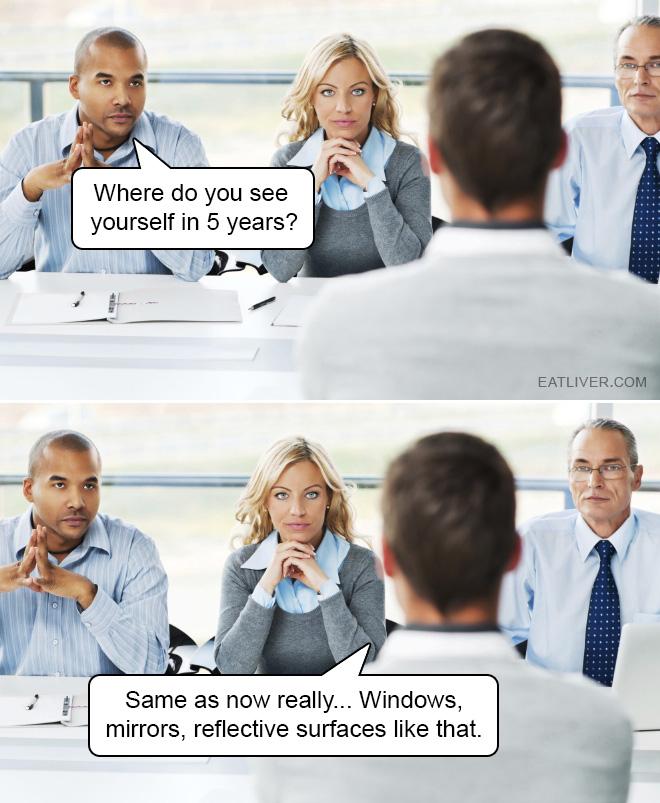 I hope he got the job.
