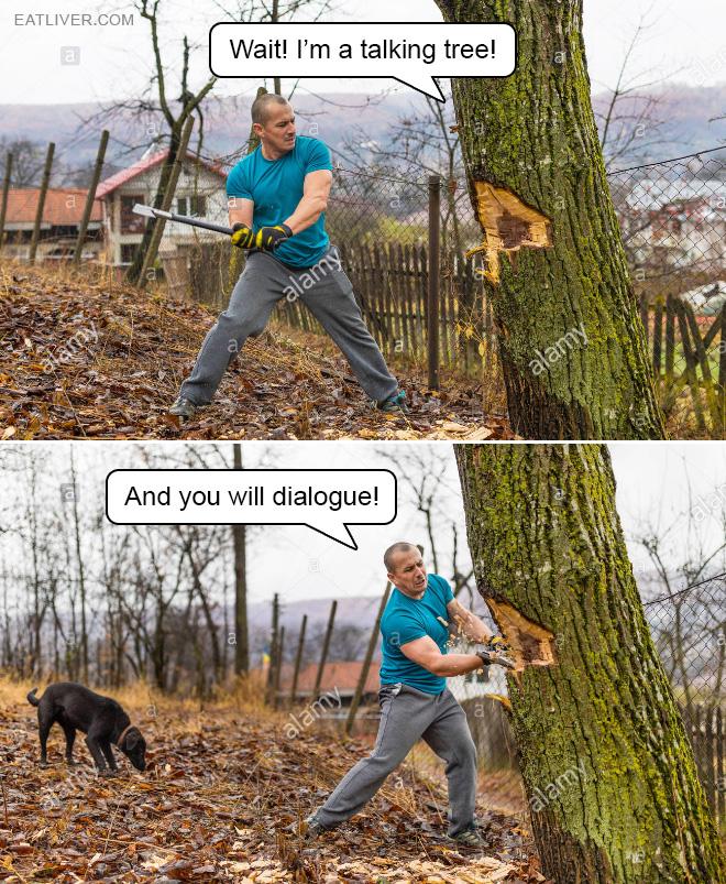 Lumberjack pun.