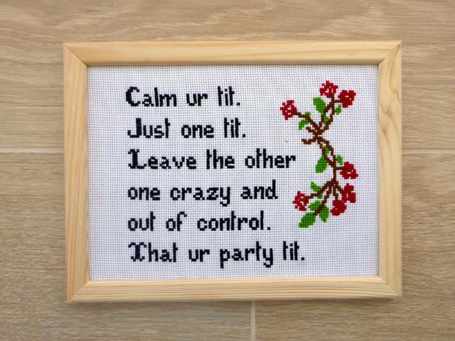 Awesome cross stitch.