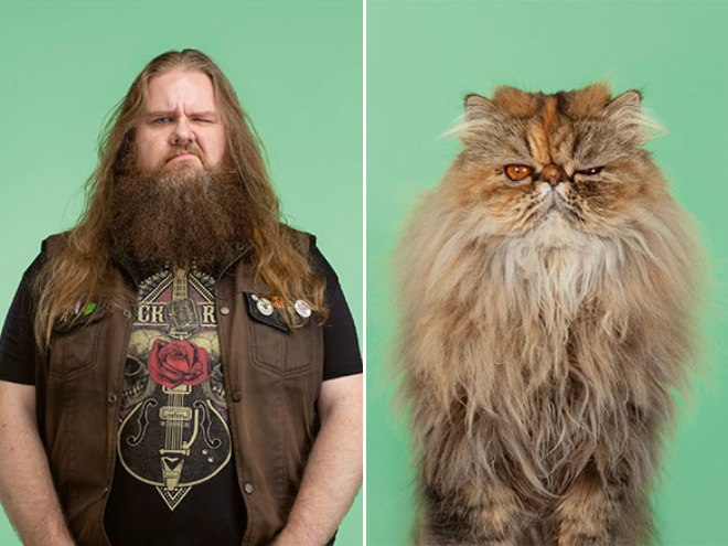 Pet and owner side-by-side.