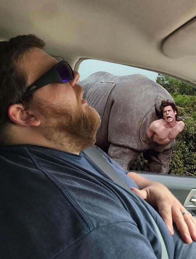 When sleeping husband meets photoshopping...